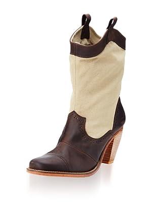 J. Shoes Women's Corral Fab Boot (Dark Brown/Tan)