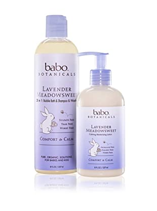 Babo Botanicals Lavender Meadowsweet Calming Bubble Bath and Lotion