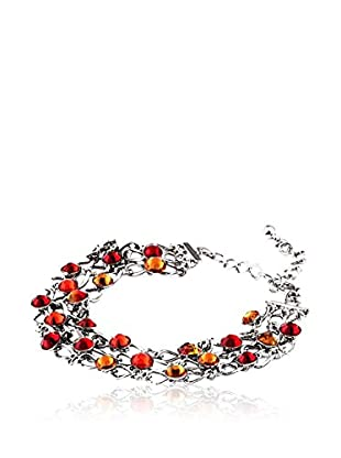 SWAROVSKI ELEMENTS Pulsera Grid Naranja
