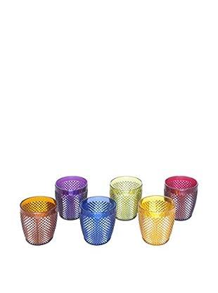 6 er Set, Gläser mehrfarbig