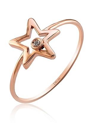Divas Diamond Anillo Diamante Star (Oro Rosa)