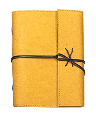 Marina Vaptzarov Soft Cover Daphne Paper Travel Diary, Yellow