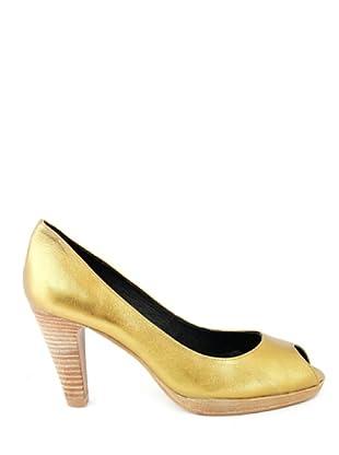 Eye Shoes Zapatos Peep Toe (Oro)
