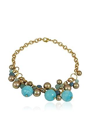 Devota & Lomba Halskette blau/goldfarben