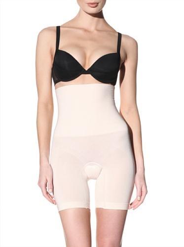 Nearly Nude Women's Ultra Firming Seamless High Waist Thigh Slimmer (Peony Pink)