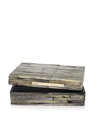 Purva Slate Grey Natural Cut Bone Box