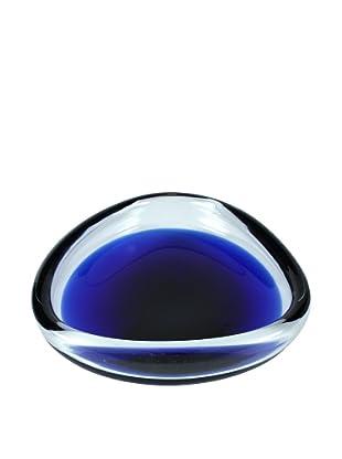 Mid -Century Art Glass Bowl, Cobalt, Blue/Clear