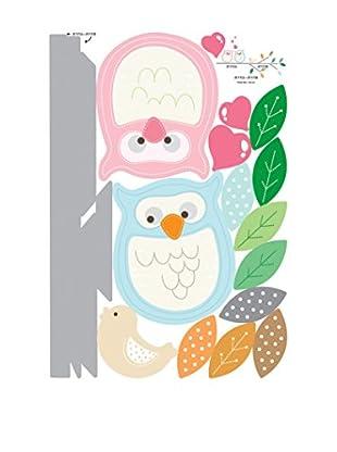 Ambiance Live Wandtattoo Owls mehrfarbig