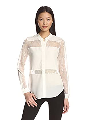Chelsea and Walker Women's Crisi Lace Paneled Shirt