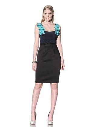 Jay Godfrey Women's Rothschild Ruffle Shoulder Dress