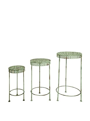 Esschert Design USA Set of 3 Industrial Heritage Plant Tables