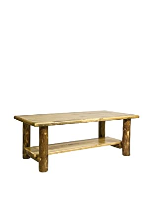 Montana Woodworks Glacier Country Coffee Table with Shelf
