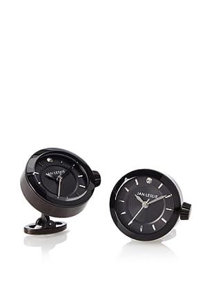 Jan Leslie Black Dress Watch Cufflinks
