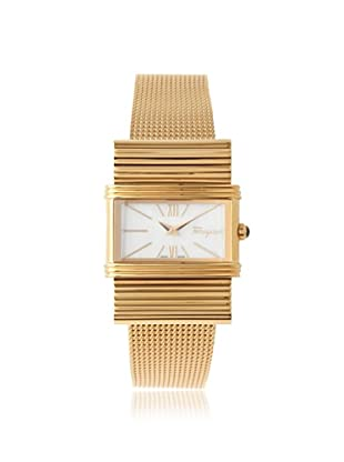 Ferragamo Women's Renaissance Mother of Pearl 18K Gold-Plated Stainless Steel Watch