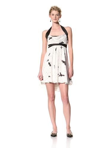 Twinkle By Wenlan Women's My Voice Crisscross A-Line Dress (White/Black)