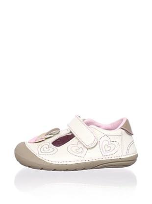 Stride Rite Kid's Soft Motion Ava T-Strap Flat (Infant/Toddler) (Bone/Rosebud)