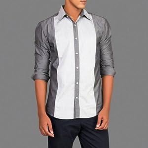 Black Chambray Panel Shirt | Size Small