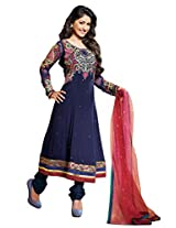 atisundar graceful Blue Embroidered Anarkali- 4122_39_302