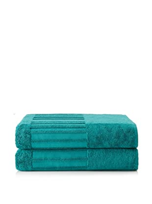 Garnier-Thiebaut Set of 2 Spa Bath Sheets (Canard)