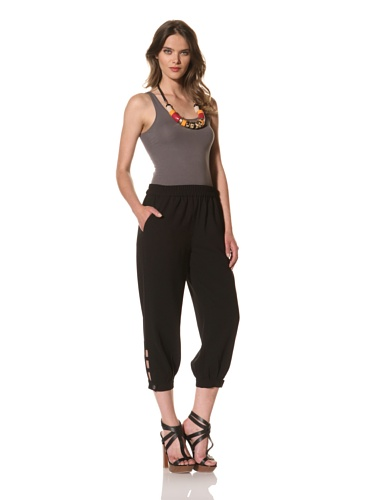 Cut25 Women's Crepe Suiting Pants (Jet)