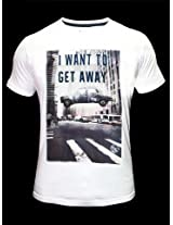 Pepe Jeans I Want To Get Away White T-Shirt