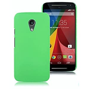 WOW Imagine Matte Hard Case Back Cover For Motorola Moto G 2nd Gen (Parrot Green)