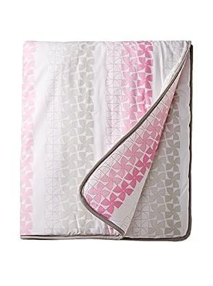 Olli & Lime Pinwheel Crib Quilt, Pink/Grey