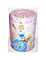 "Disney Princess Cinderella ""Wishes & Dreams"" Round Tin Bank with Easy-Off Lid"
