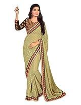 Manvaa light green saree -FNST1510