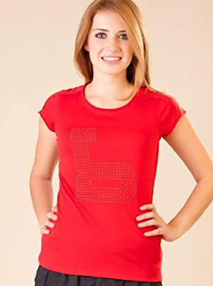 By Basi Camiseta Strass (Rojo)