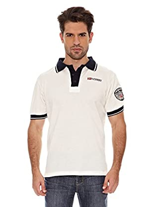 Geographical Norway Polo Manga Corta Kebo Ss Men 100 (Blanco / Marino)
