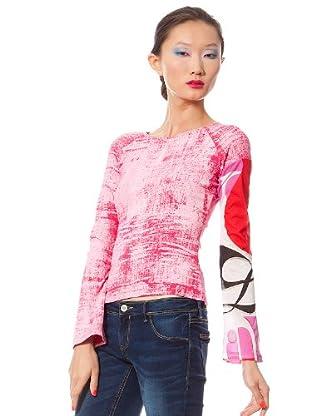 Custo Camiseta Folky Ton (Rosa)