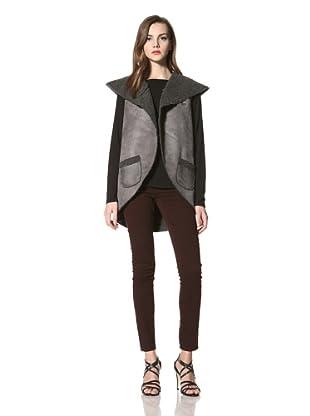 525 America Women's Faux Shearling Vest (Grey)