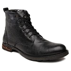 Bacca Bucci Leather High Ankle Length Boots - Black