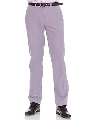 PEDRO DEL HIERRO Pantalón Oxford (Morado / Beige)