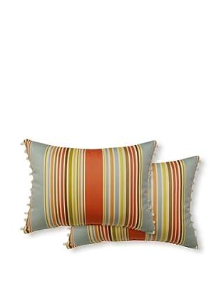 Dakota Set of 2 Deck Chair Pillows (Seaglass)