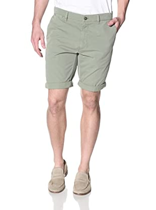 Mason's Men's London Flat Front Shorts (Green)