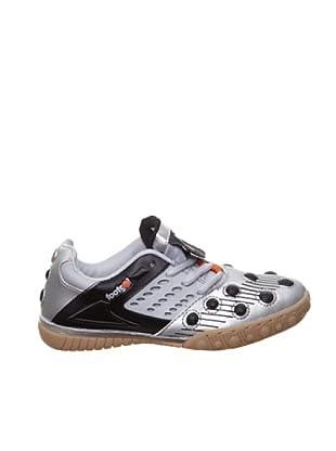 Footgol Zapatillas Cordones (Plata / Negro)