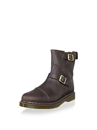 Dr. Martens Unisex Asher Boot (Dark Brown Burnished Wyoming)