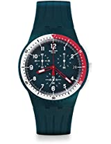 Swatch SUSN405 El Comandante Blue Chronograph Date Silicone Unisex Watch New