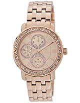 Titan Purple - Glam Gold Analog Pink Dial Women's Watch - 9743WM01J
