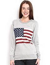 Espresso Women's Sweatshirt (ESP-6021_Grey_X-Large)