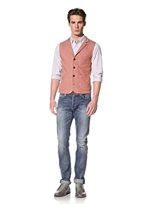 Onassis Men's Locke Terry Knit Vest (Red Heather)