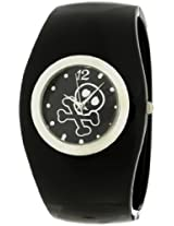 Frenzy Kids' FR288 Round Black Skull Analog Bangle Watch