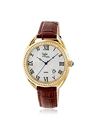 Sophie and Freda Women's SF2903 Austin Brown/White Leather Watch