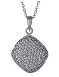 Clara Sterling Silver Swarovski Studded The Glam Pendant For Women