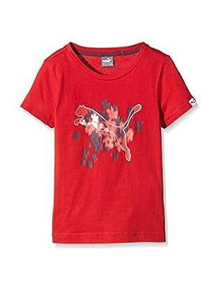 PUMA Mädchen T-Shirt Fun IND Graphic Tee, Lipstick Red, 128, 834279 27