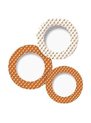 Molecuisine Geschirr 12 tlg. Set Enjoy orange