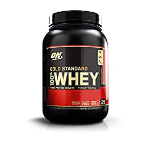 Optimum Nutrition (ON) 100% Whey Gold Standard - 2 lbs (Delicious Strawberry)