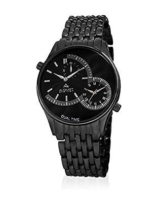 August Steiner Uhr mit schweizer Quarzuhrwerk  schwarz 42 mm
